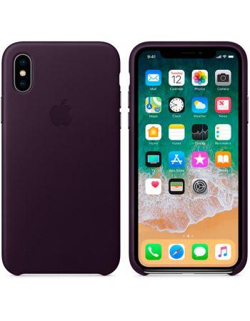 Чехол для iPhone Apple iPhone X Leather Case Dark Aubergine